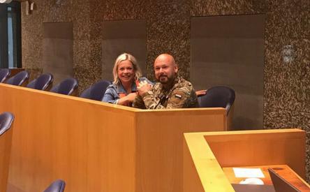 28-06-2018 | Marco Kroon brengt informeel bezoek aan de Tweede Kamer