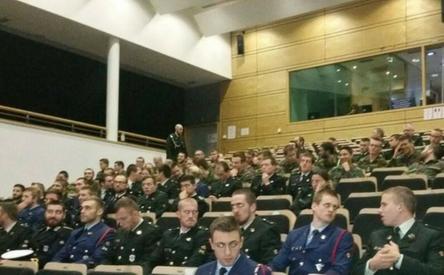 12-12-2017 | Marco Kroon geeft lezing bij Koninklijke Militaire School in Brussel