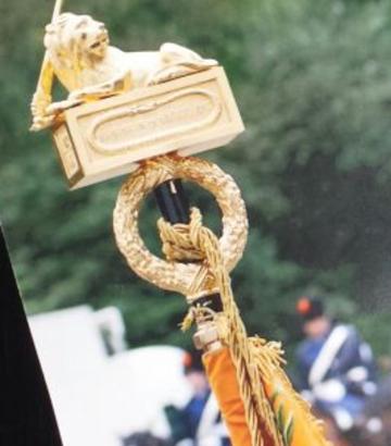 16-10-2014 | Marco Kroon bij uitreiking nieuwe standaard Koninklijke Marechaussee