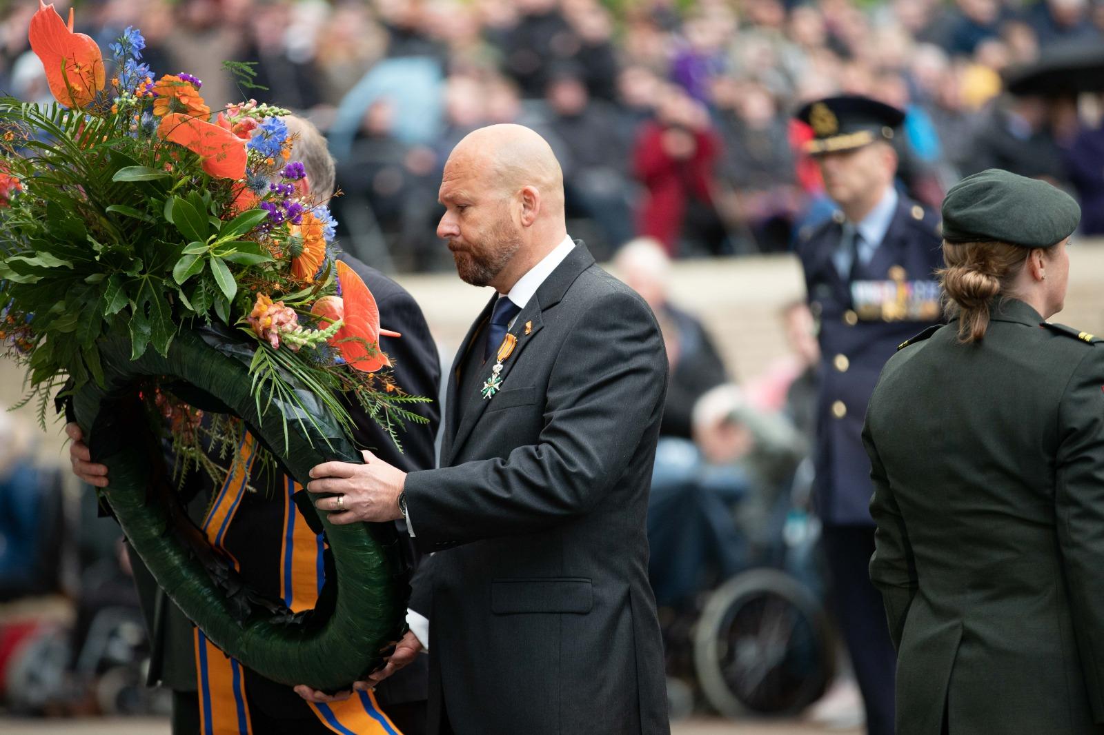 2019-05-04 | Marco Kroon bij Dodenherdenking Grebbeberg