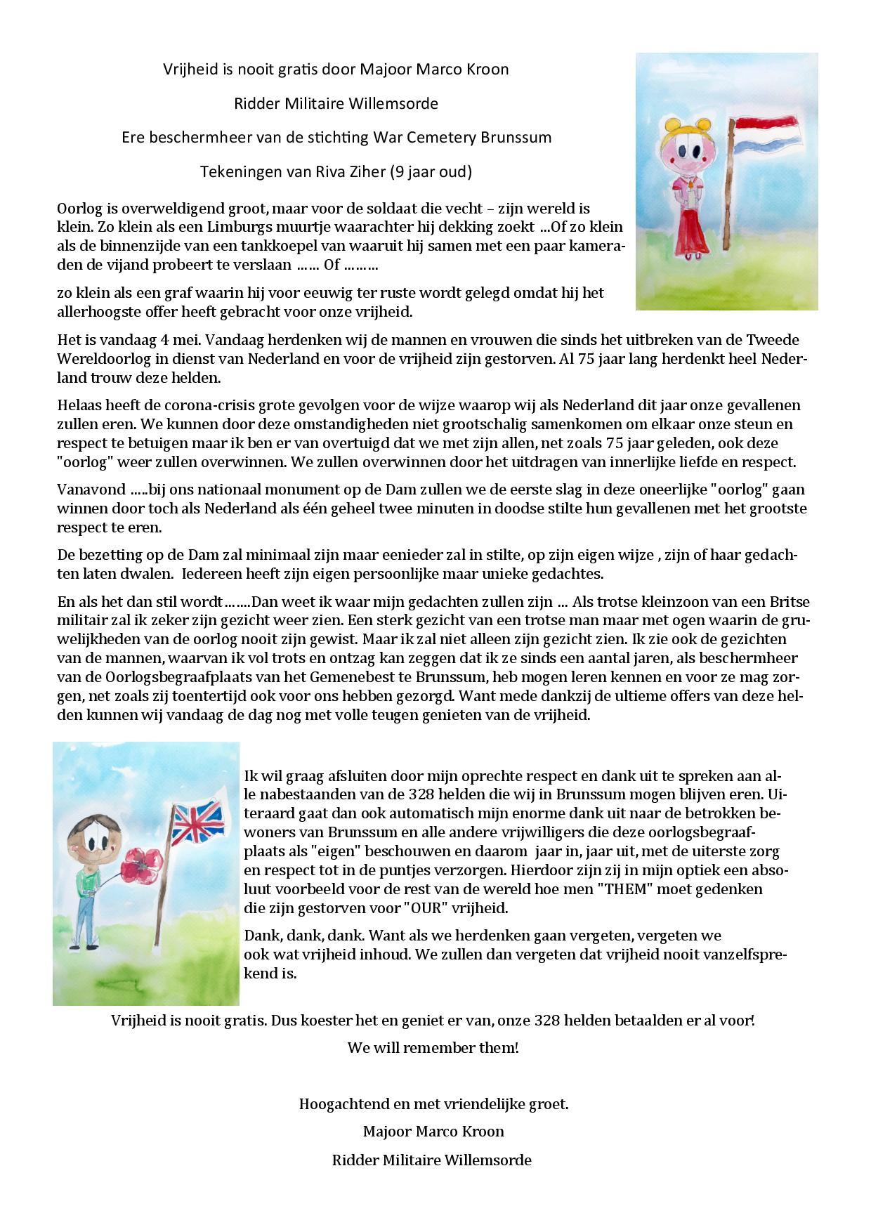 2020-05-04 | Bericht Marco Kroon Dodenherdenking